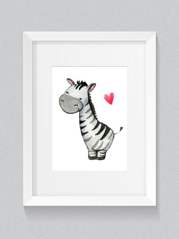 Plakat Malowane Zwierzaki Zebra