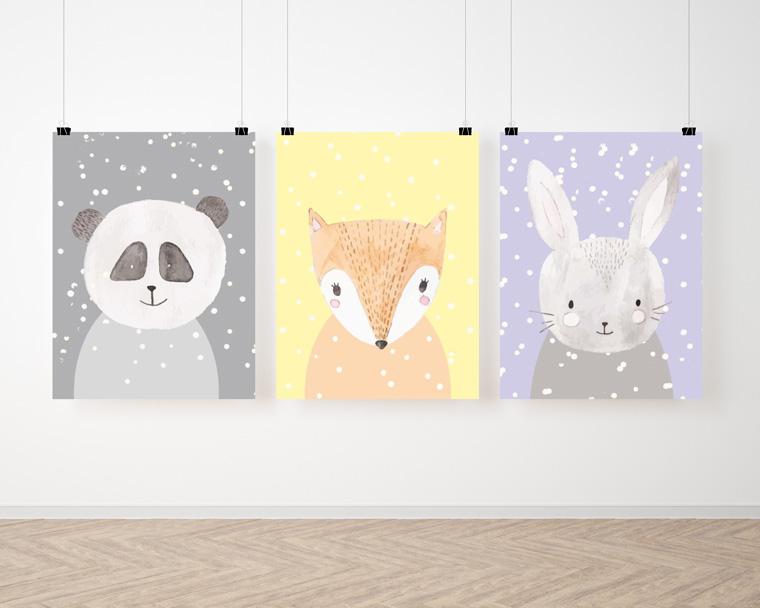 plakaty do pokoiku zwierzaki