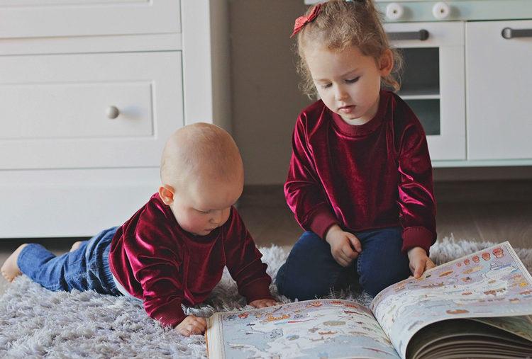 bluza aksamitna borodowa dziecięca