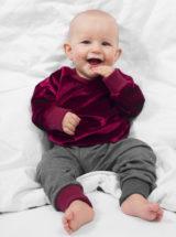 bluza bordowa dla chłopca