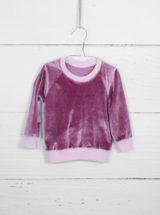 Różowa bluza atłasowa