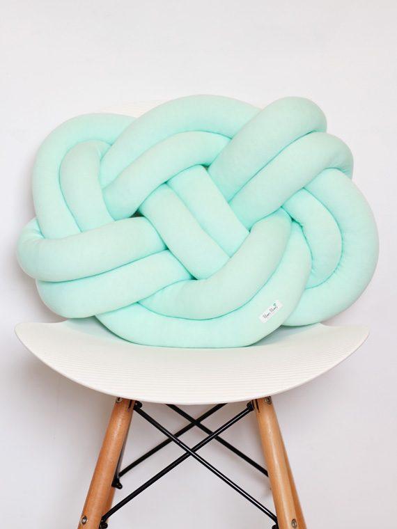 Knot Pillow – Poduszka Supeł – miętowa