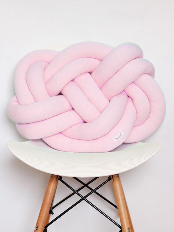 Poduszka Supeł – Knot Pillow – różowa