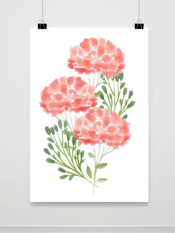 Plakat Malowane Kwiaty