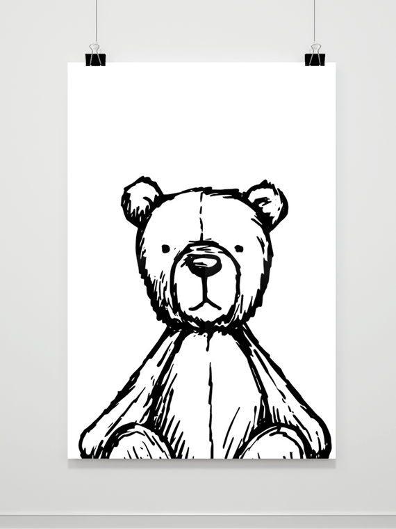 Plakat Teddy Bear