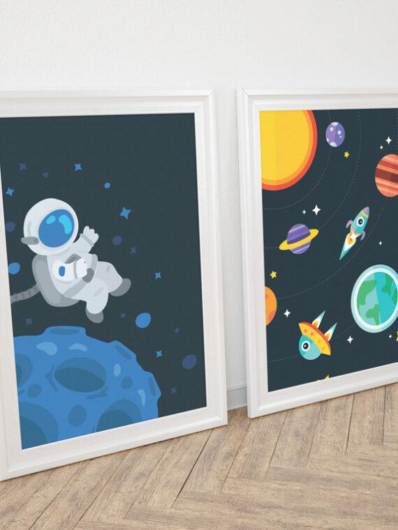Zestaw plakatów Kosmos