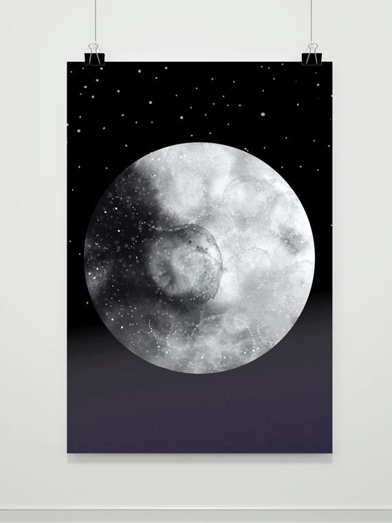 Plakat Moon Night