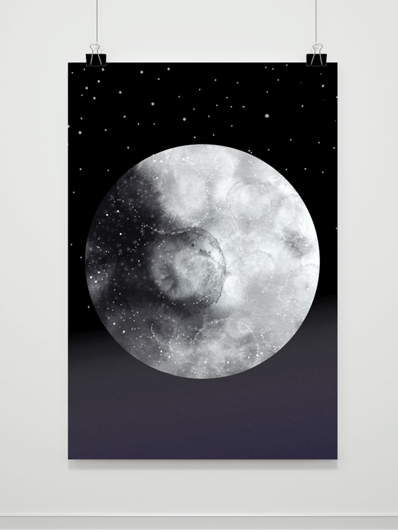 Plakat Moon Night