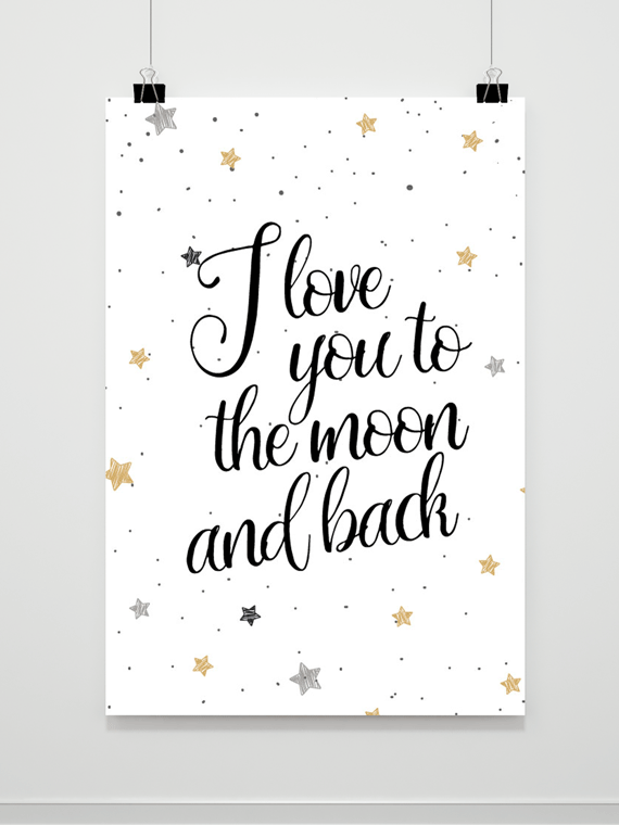 Plakat To the Moon