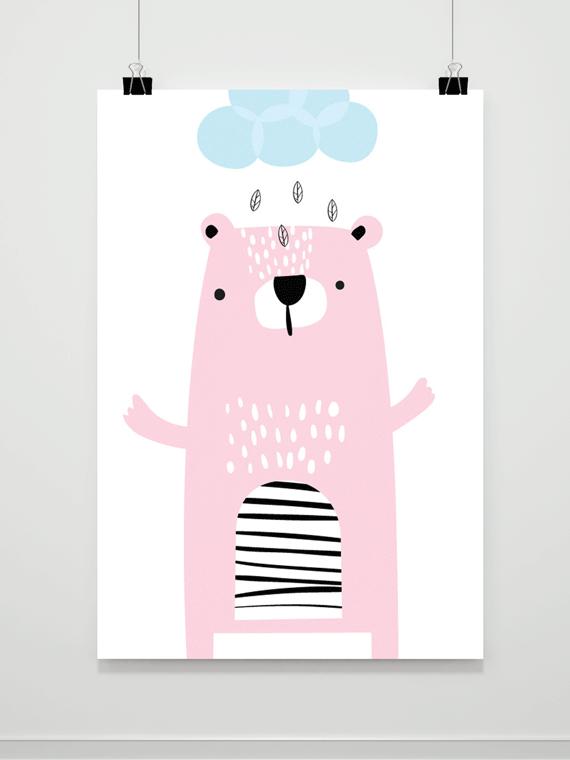 Plakat Miś Deszczowy
