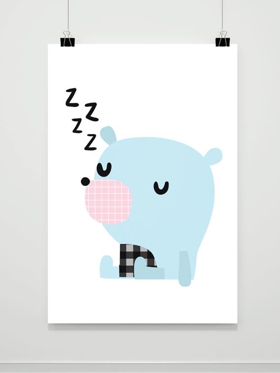 Plakat Śpiący Miś