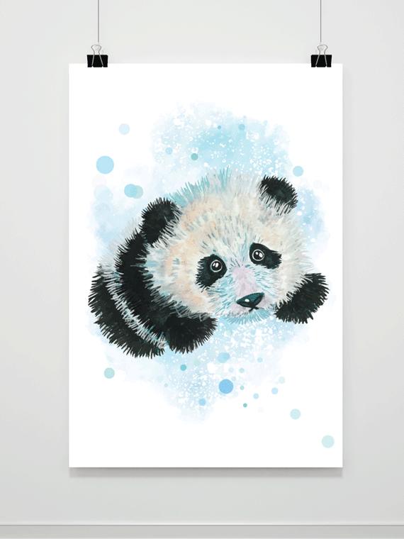 Plakat Akwarelowa Panda