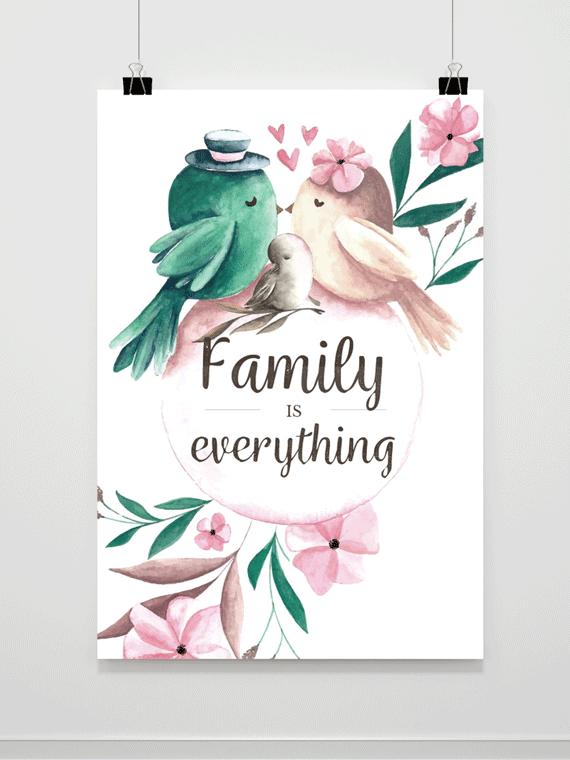 Plakat Family