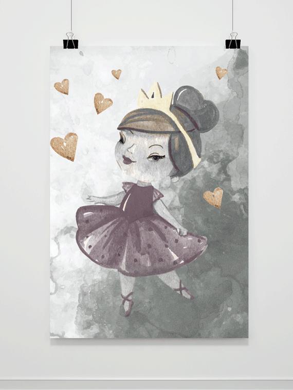 Plakat Malowana Księżniczka