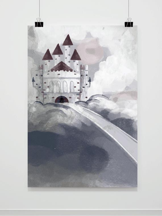 Plakat Malowany Zamek