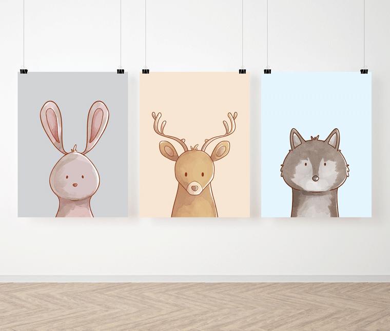 Zestaw plakatów Animals