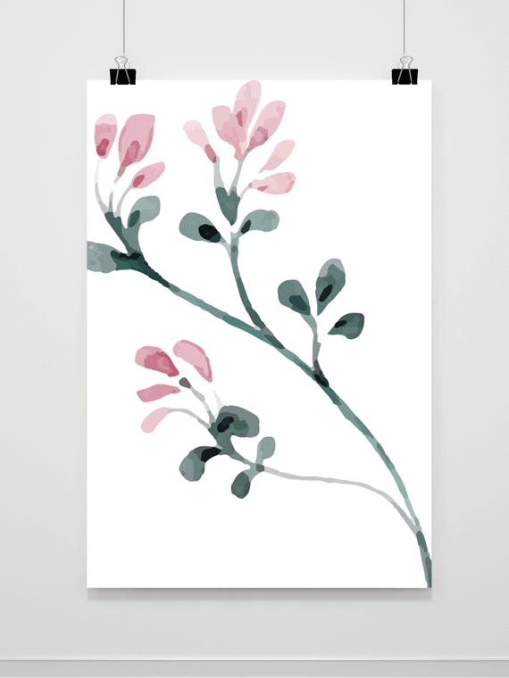 Plakat Kwiatowe Pąki