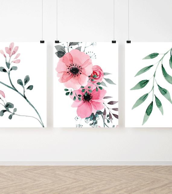 Zestaw plakatów Kwiaty