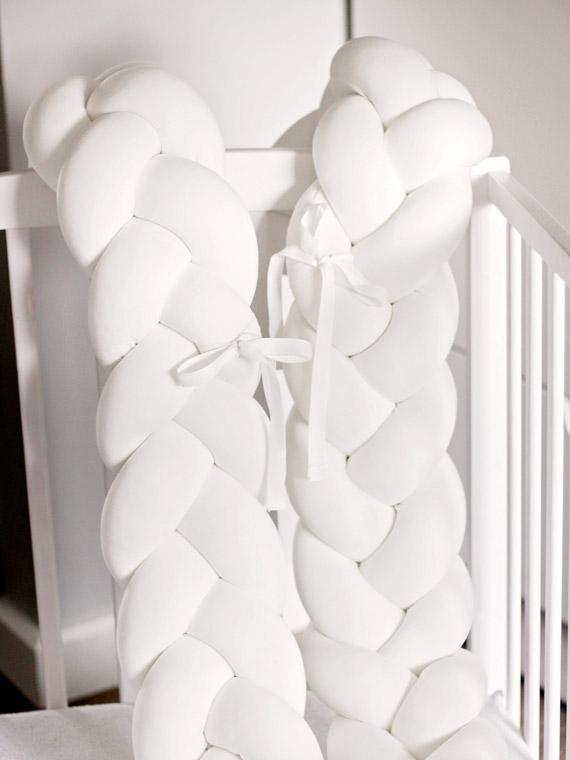 ochraniacz warkocz biały knot pillow