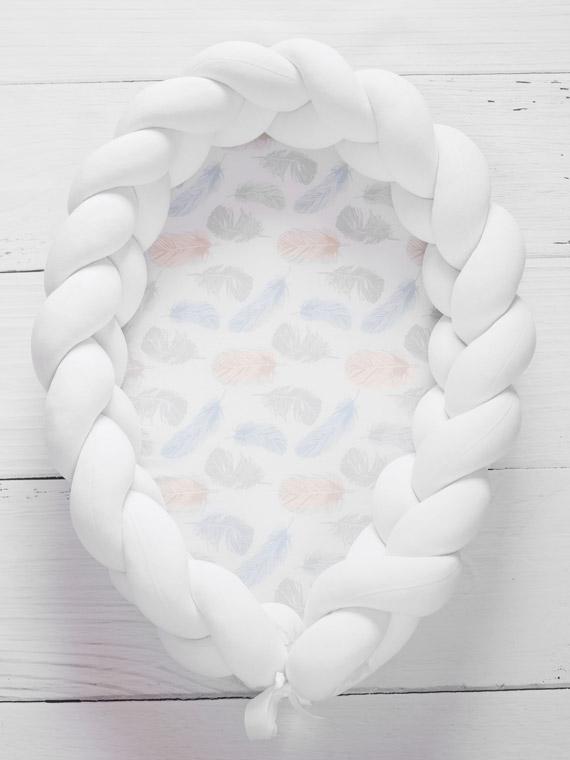 kokon niemowlęcy biały