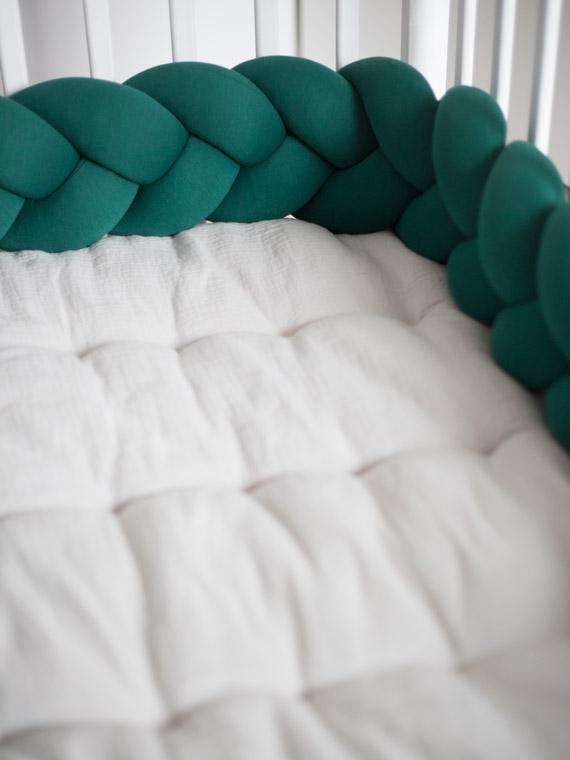 Ochraniacz do łóżeczka warkocz butelkowy Knot Pillow