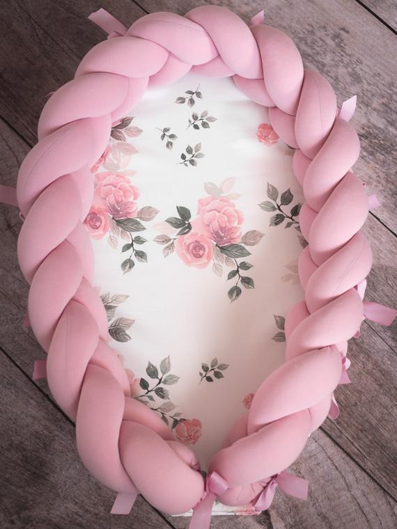 Kokon niemowlęcy pleciony 2w1 Magic Bloom