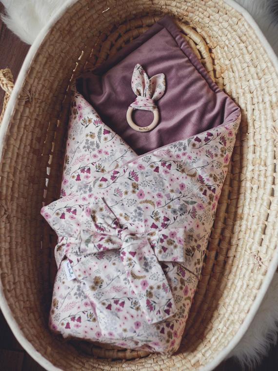 Rożek niemowlęcy RETRO FLOWERS
