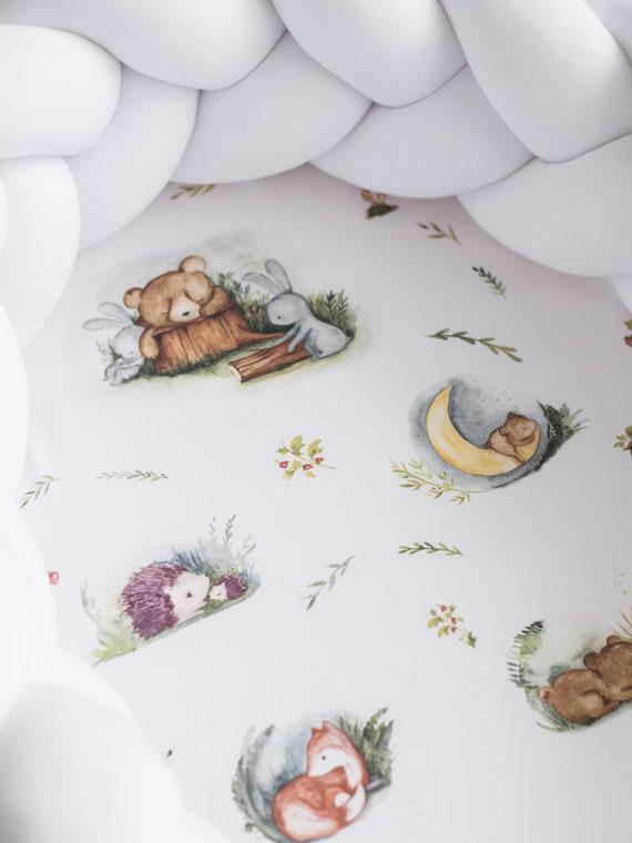 Kokon niemowlęcy pleciony 2w1 Forest Moments Biały PREMIUM