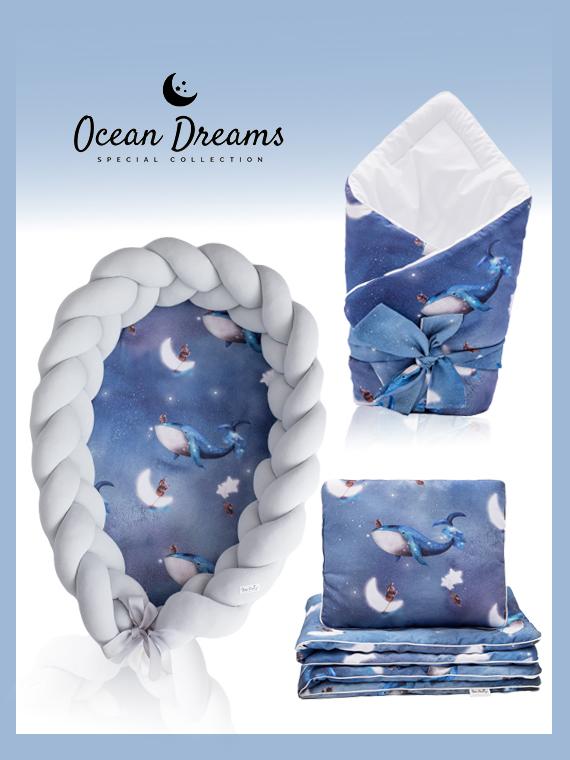 Wyprawka dla noworodka ZESTAW Ocean Dreams 4w1 JASNOSZARY
